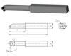ИНПО: Инструмент режущий - резцы : Резцы канавочные : Резец Канавочный внутренний 20х20х200 ВК8 а=5, m=12